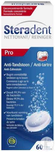 Steradent Anti-Tandsteen Pro 60 Tabletten