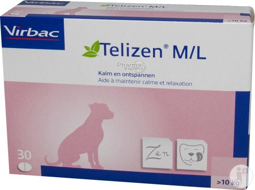 Telizen M/L Hond-kat Tabletten 30x100mg