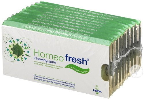 Unda Homeofresh Chewing-Gum 10x12 Gums