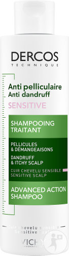 Vichy Dercos Anti-Roos Sensitive Shampoo Fles 200ml
