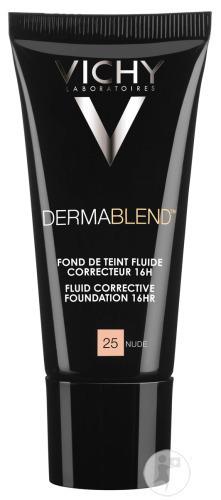 Vichy Dermablend Corrigerende Foundation 16h 25 Nude Tube 30ml