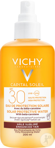 Vichy Idéal Soleil SPF30 Zonbeschermend Water Optimale Bruine Teint Sprayfles 200ml