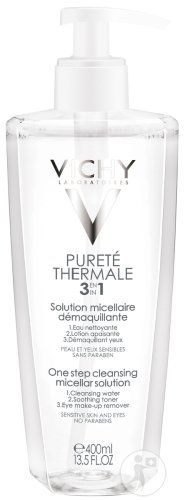 Vichy Pureté Thermale Micellaire Reinigingslotion 3 In 1 Pompfles Duopack 2x400ml