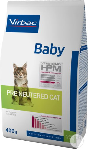 Virbac Baby Pre Neutered Cat 400g