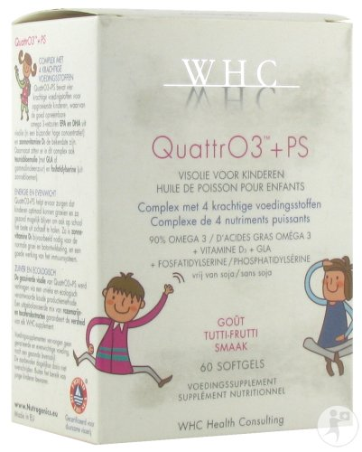 WHC QuattrO3 + PS Tutti Frutti Smaak 60 Softgels