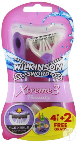 Wilkinson Xtreme 3 Beauty 4 + 2 Gratis