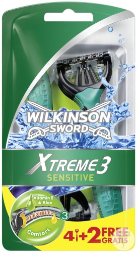 Wilkinson Xtreme 3 Sensitive 4 + 2 Gratis