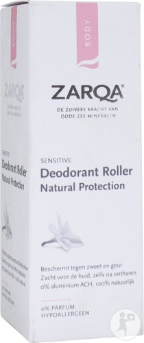 Zarqa Sensitive Deodorant Roller Natural Protection Gevoelige Huid Roll-On 50ml