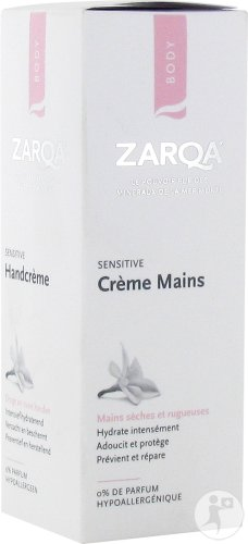 Zarqa Sensitive Handcreme Droge En Ruwe Handen Tube 75ml