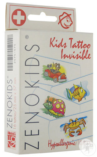 Zenokids Tattoo Invisible Waterproof Pleister 16 Stuks
